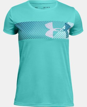 New Arrival Girls' UA Hybrid Big Logo T-Shirt  1 Color $20