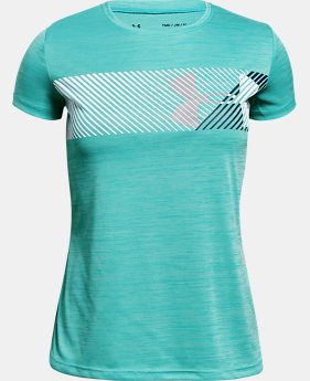 Girls' UA Hybrid Big Logo T-Shirt LIMITED TIME: FREE U.S. SHIPPING 4  Colors Available $20