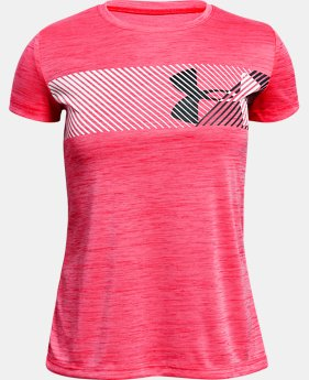 Girls' UA Hybrid Big Logo T-Shirt  4  Colors $20