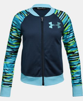 Girls' UA Track Jacket - Graphic  2  Colors Available $55