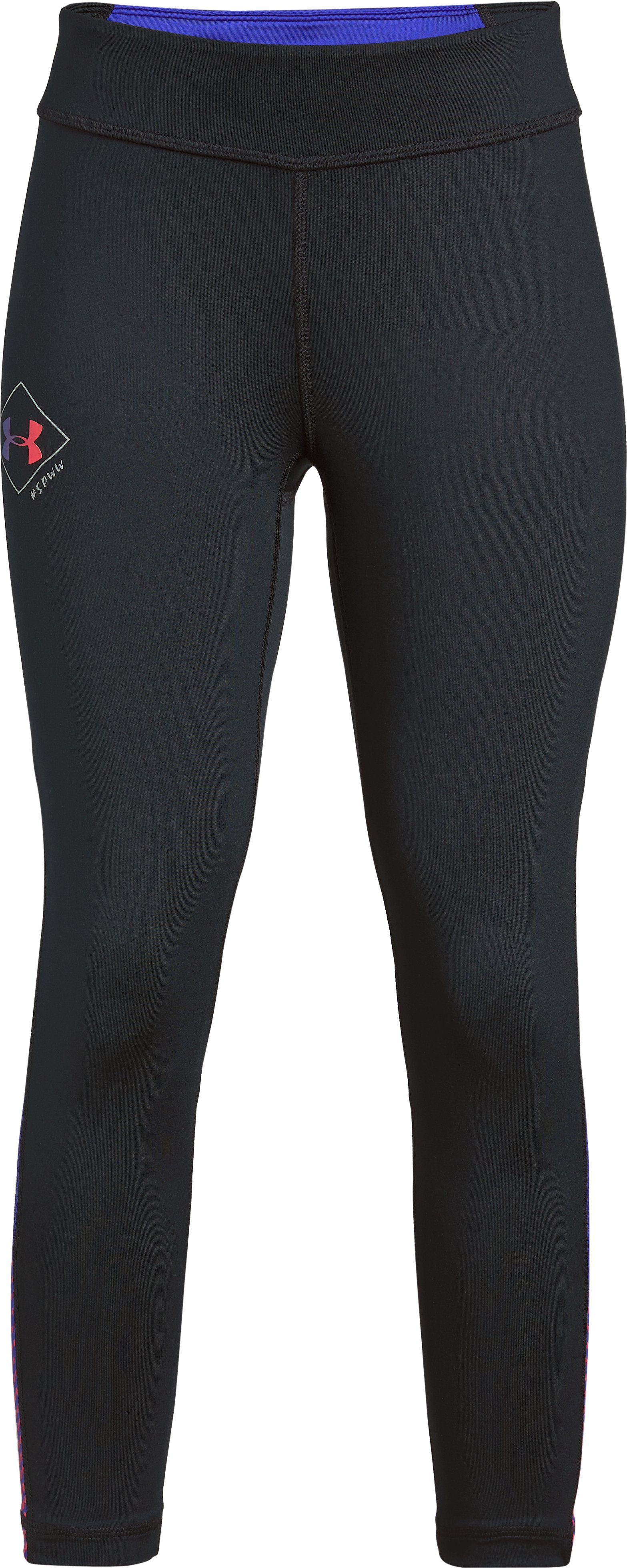 Girls' UA SPWW Finale Capris, Black , zoomed