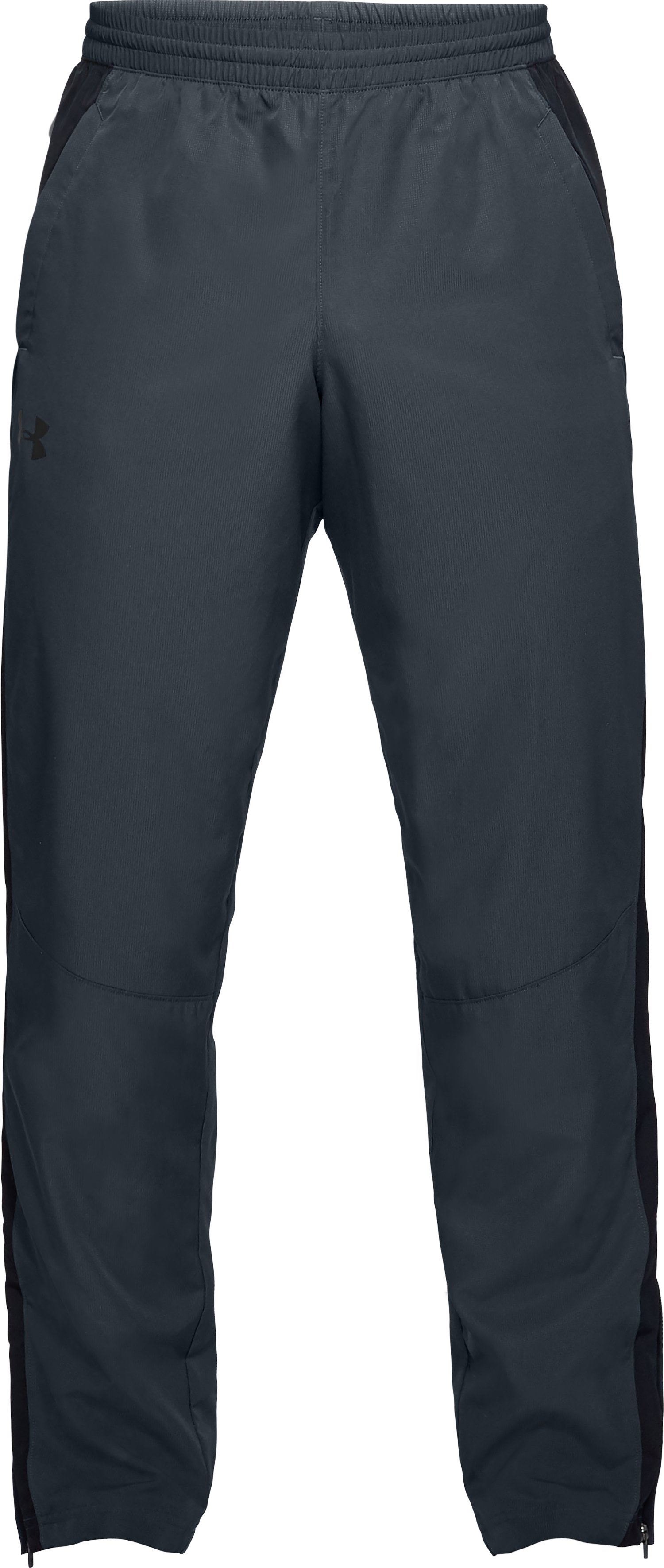 Men's UA Sportstyle Woven Pants, STEALTH GRAY,