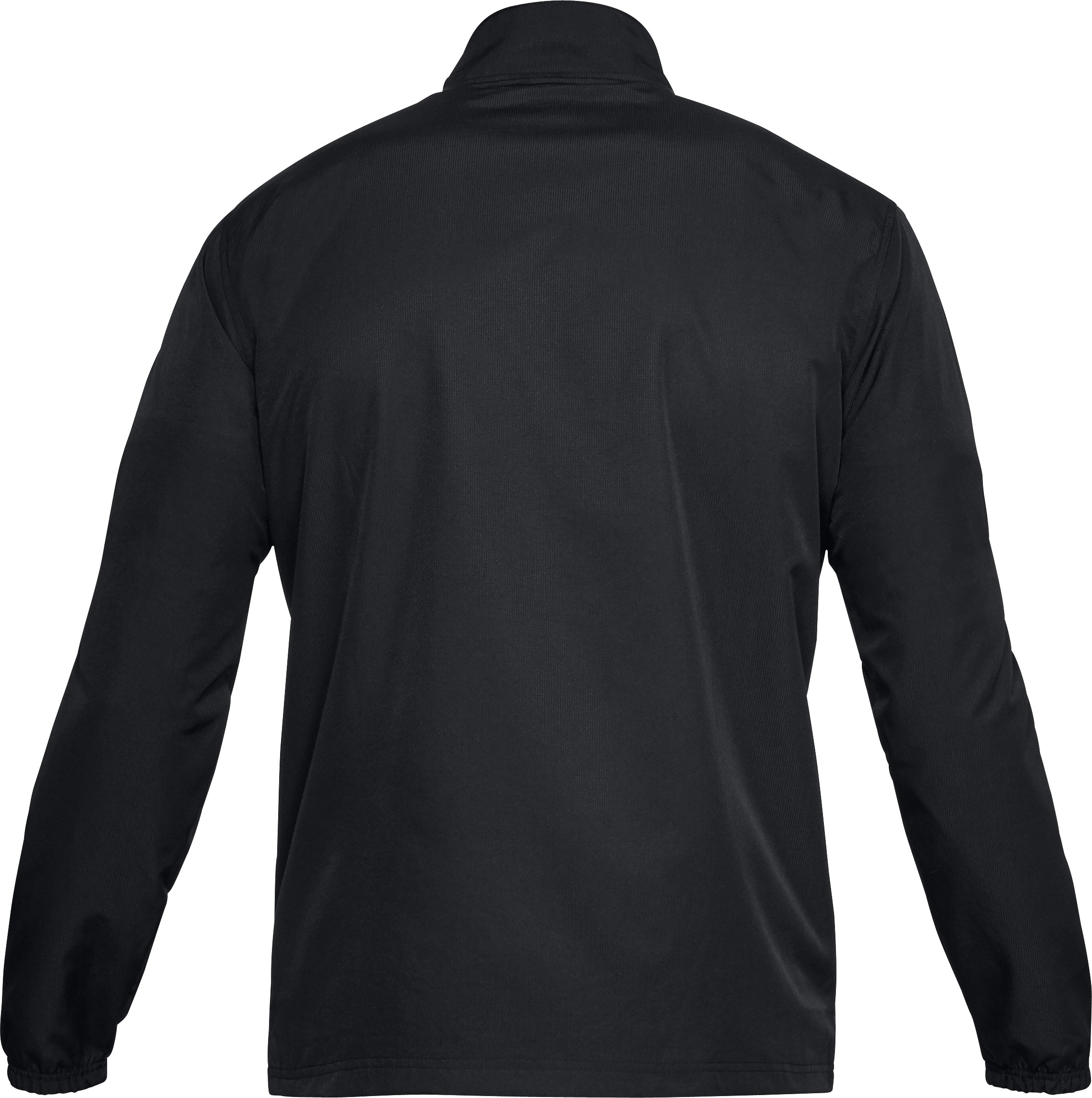 Men's UA Sportstyle Woven Full Zip Jacket, Black ,