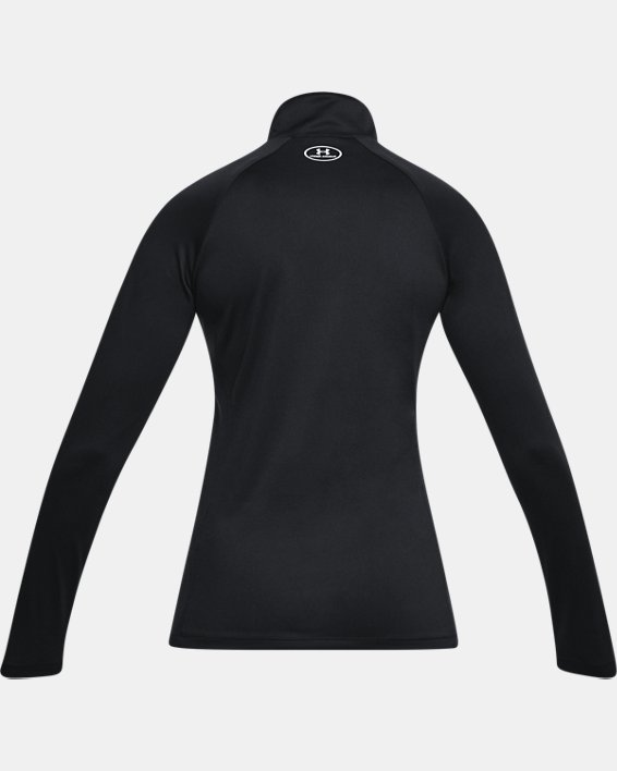 Women's UA Tech™ ½ Zip, Black, pdpMainDesktop image number 4