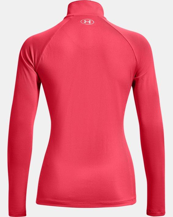 Women's UA Tech™ ½ Zip, Pink, pdpMainDesktop image number 5
