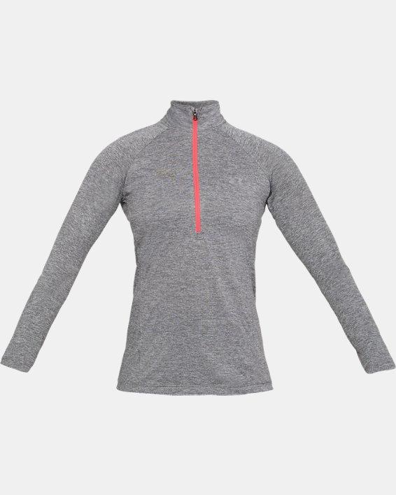 Women's UA Tech™ Twist ½ Zip, Gray, pdpMainDesktop image number 3