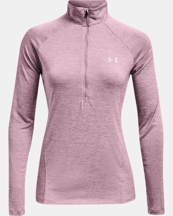 Women's UA Tech™ Twist ½ Zip, Pink, pdpMainDesktop image number 4