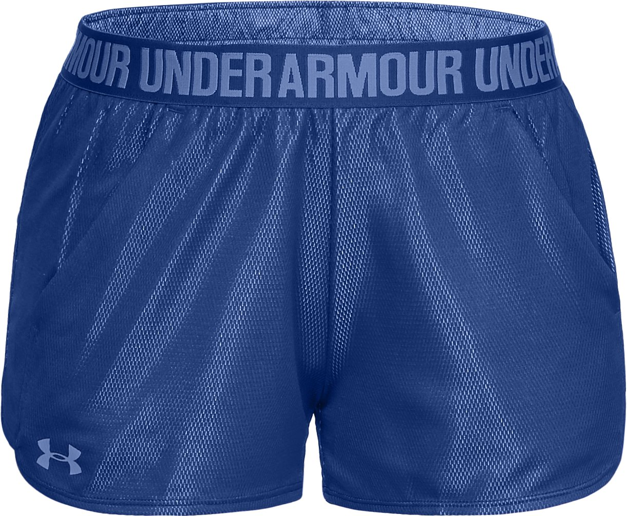Women's UA Play Up Shorts Metallic, FORMATION BLUE,