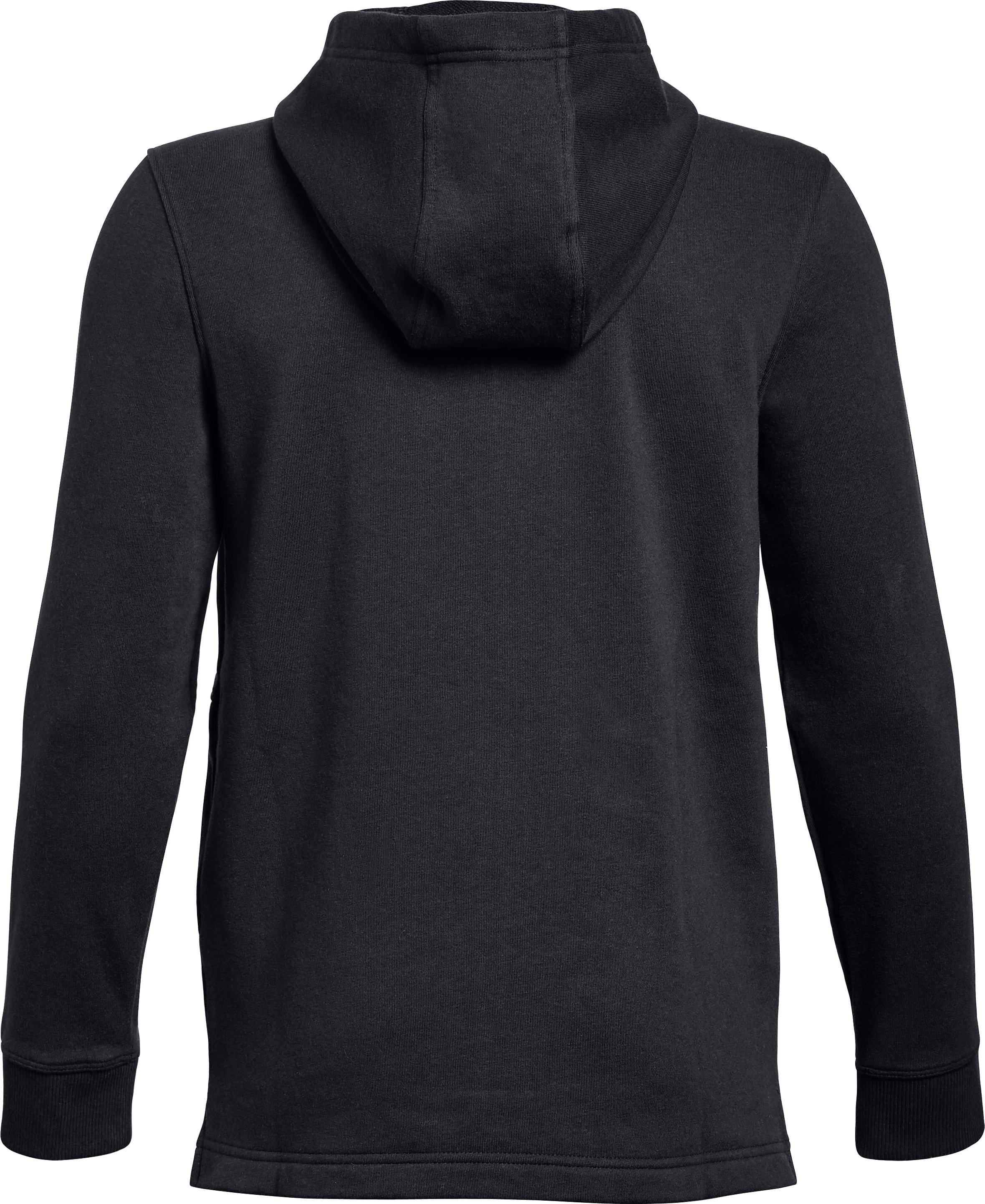 Boys' UA Microthread FT Full Zip Hoodie, Black ,