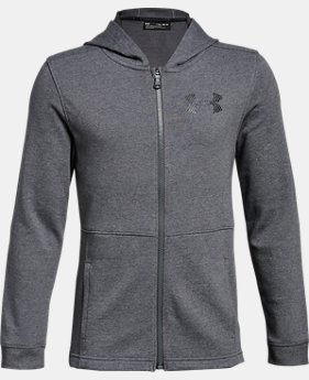 New Arrival Boys' UA Microthread FT Full Zip Hoodie  1  Color $50