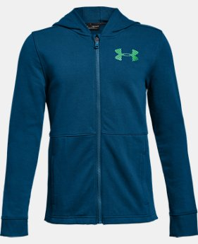 Boys' UA Microthread FT Full Zip Hoodie  1  Color Available $50