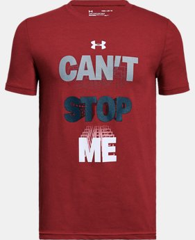 New Arrival Boys' UA Can't Stop Me T-Shirt  1 Color $20