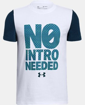 Boys' UA No Intro Needed T-Shirt  2 Colors $25