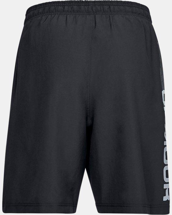 Herren Shorts UA Woven Graphic Wordmark, Black, pdpMainDesktop image number 4