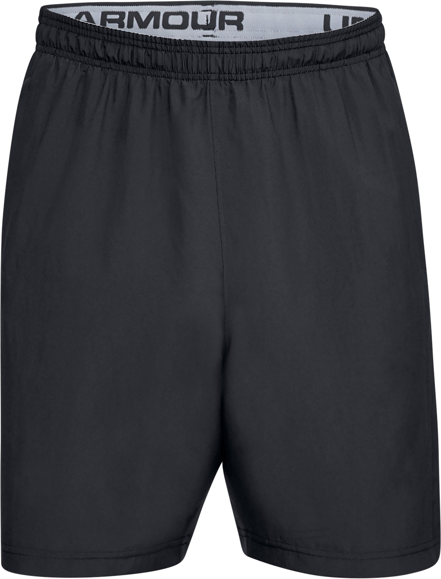 Men's UA Woven Graphic Wordmark Shorts, Black ,