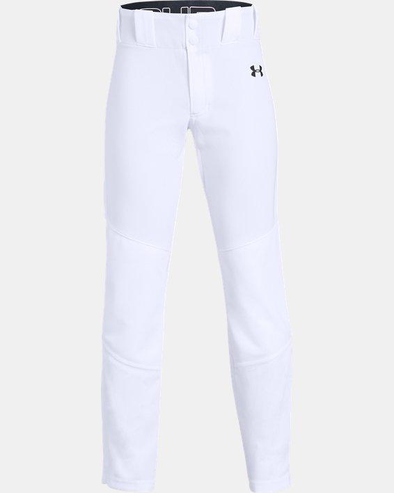 Boys' UA Ace Relaxed Baseball Pants, White, pdpMainDesktop image number 0