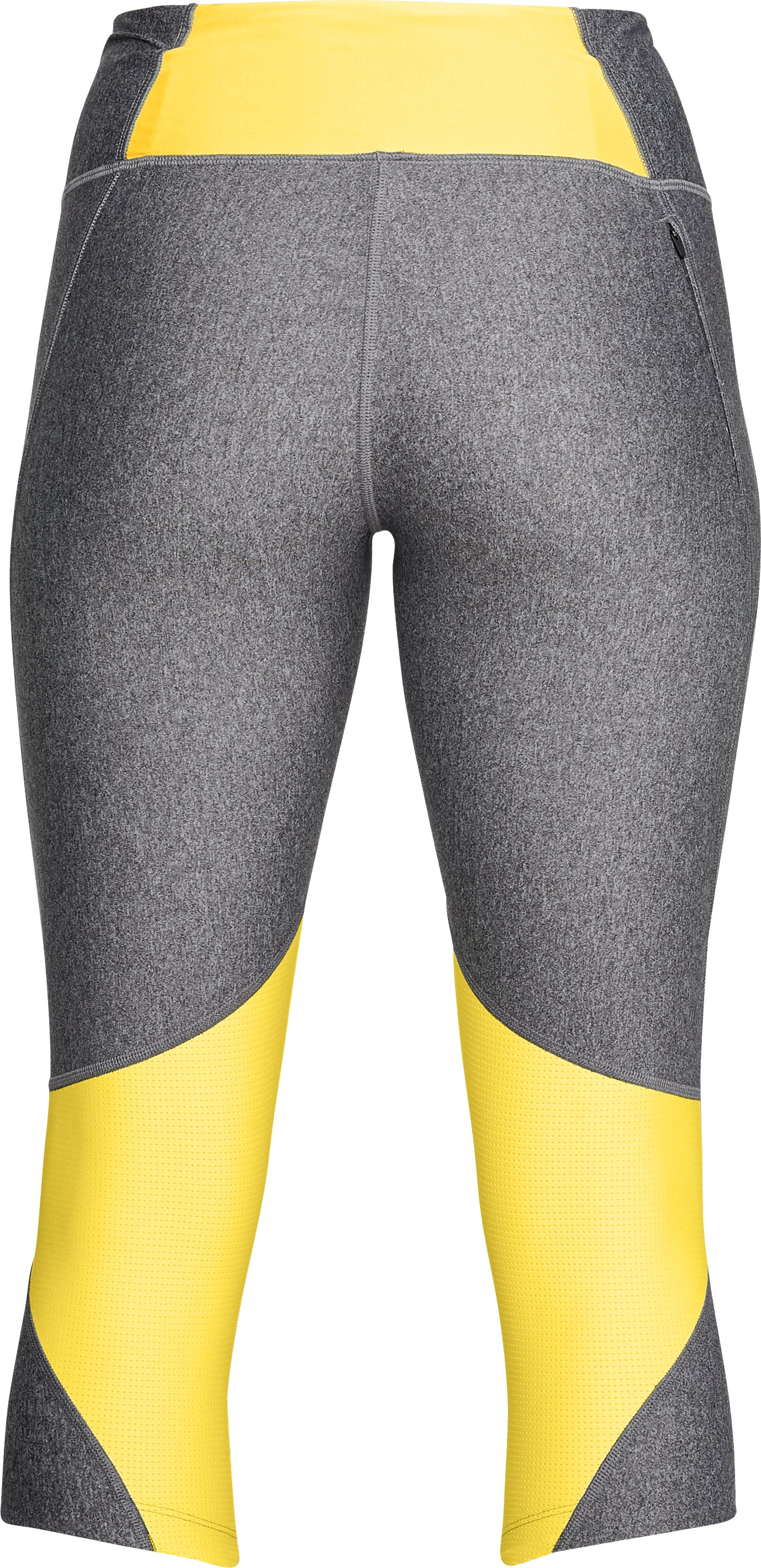 Women's UA Armour Fly Fast Capri, CHARCOAL LIGHT HEATHER,
