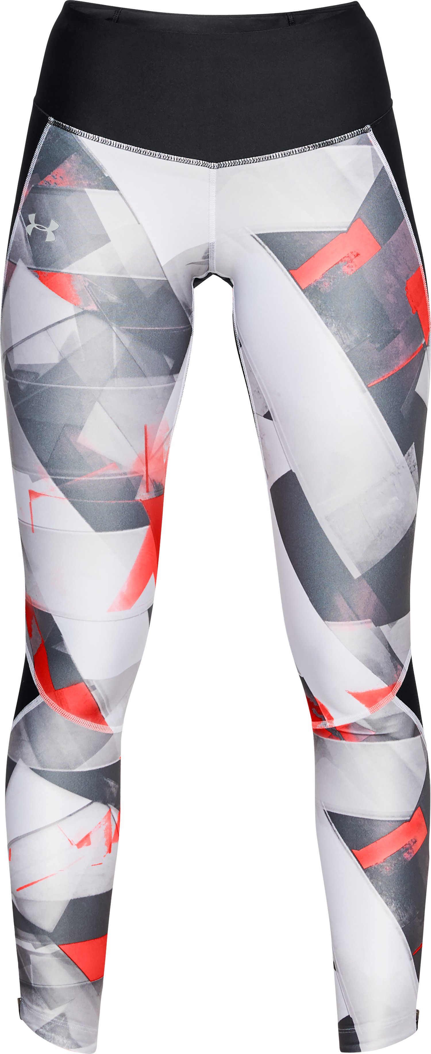 Women's UA Armour Fly Fast Printed Tights, Black ,