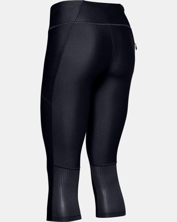 Women's UA Mileage Capris, Black, pdpMainDesktop image number 4