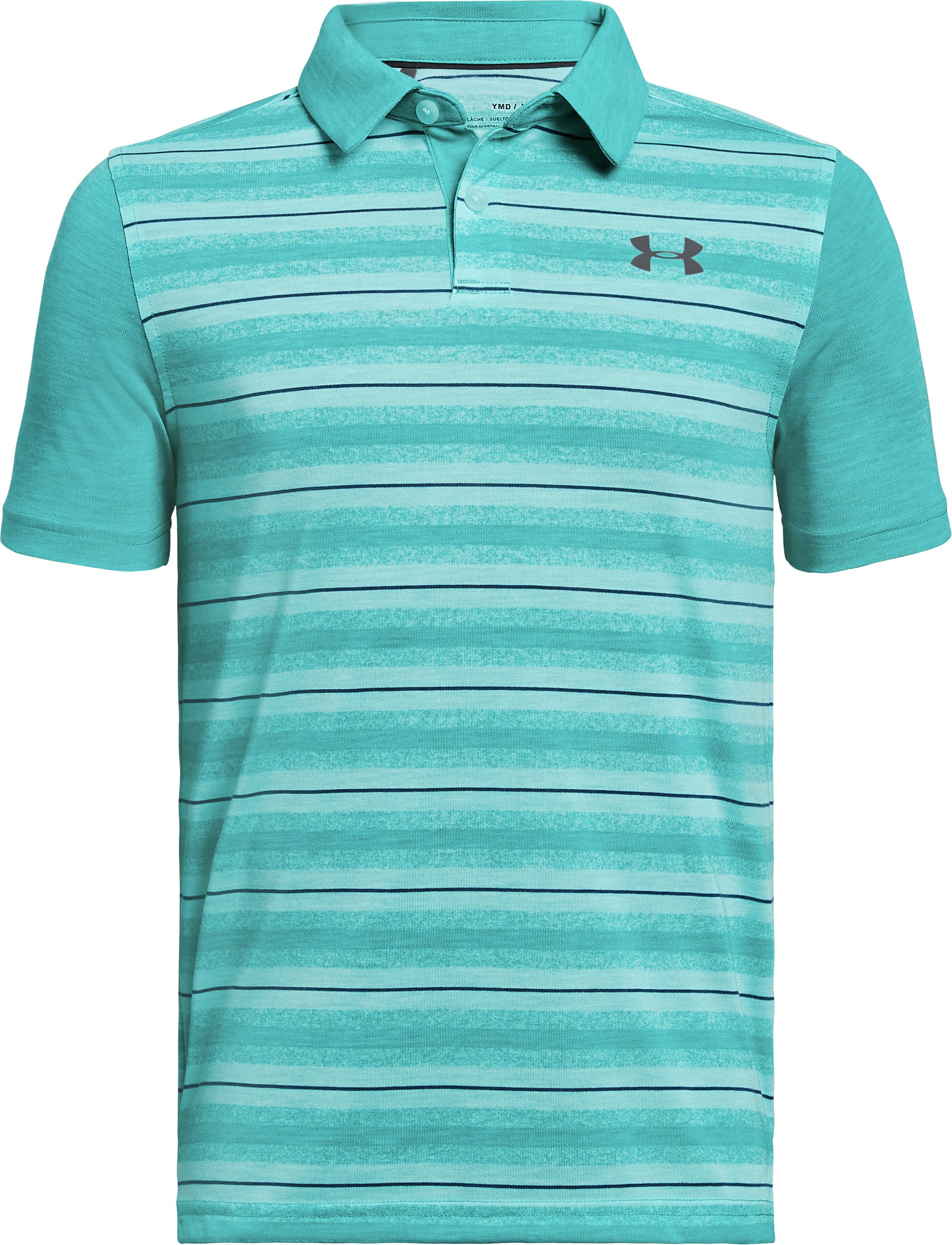 Boys' UA Threadborne JS Boundless Polo, TROPICAL TIDE