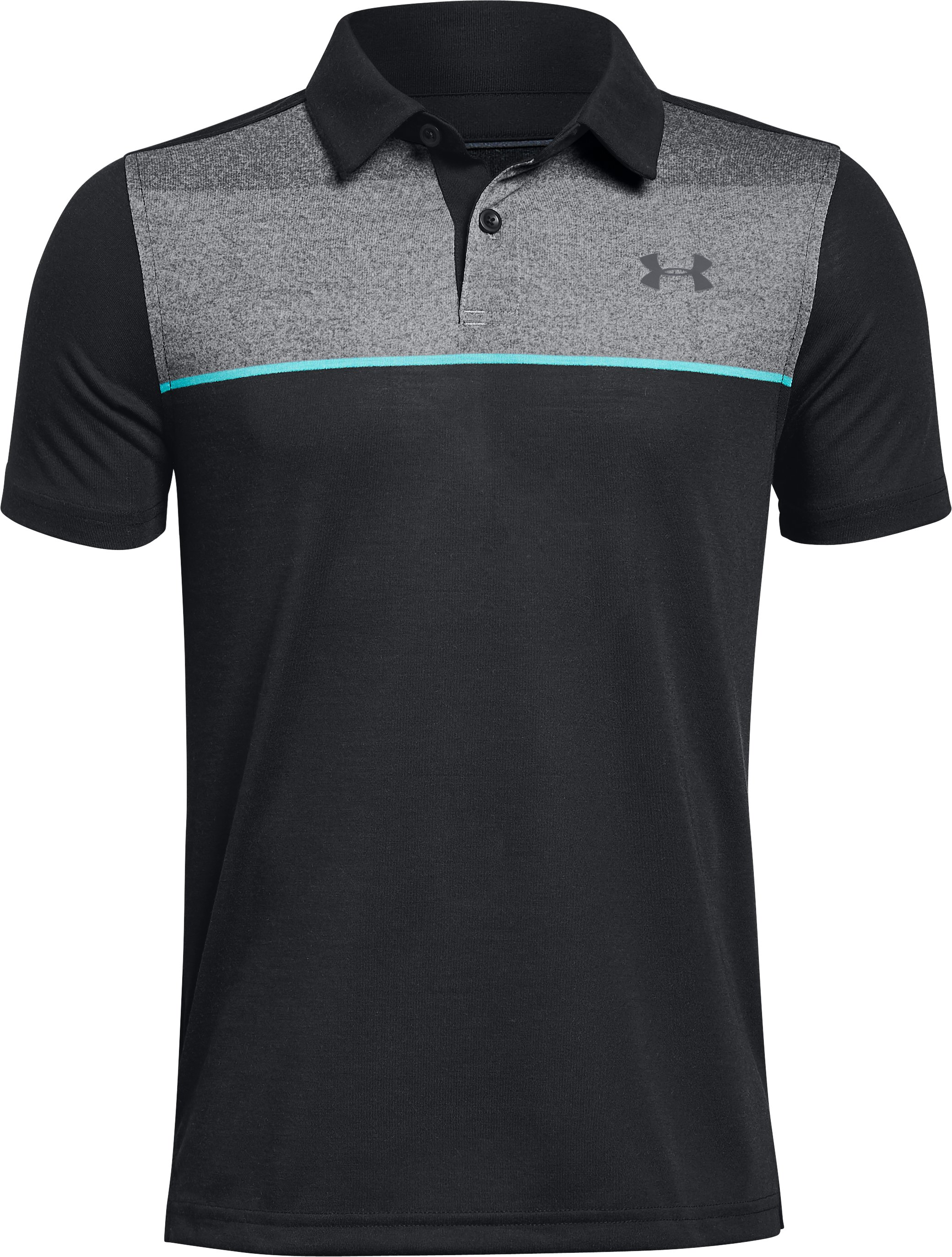 Boys' UA Threadborne JS Infinite Polo, Black ,