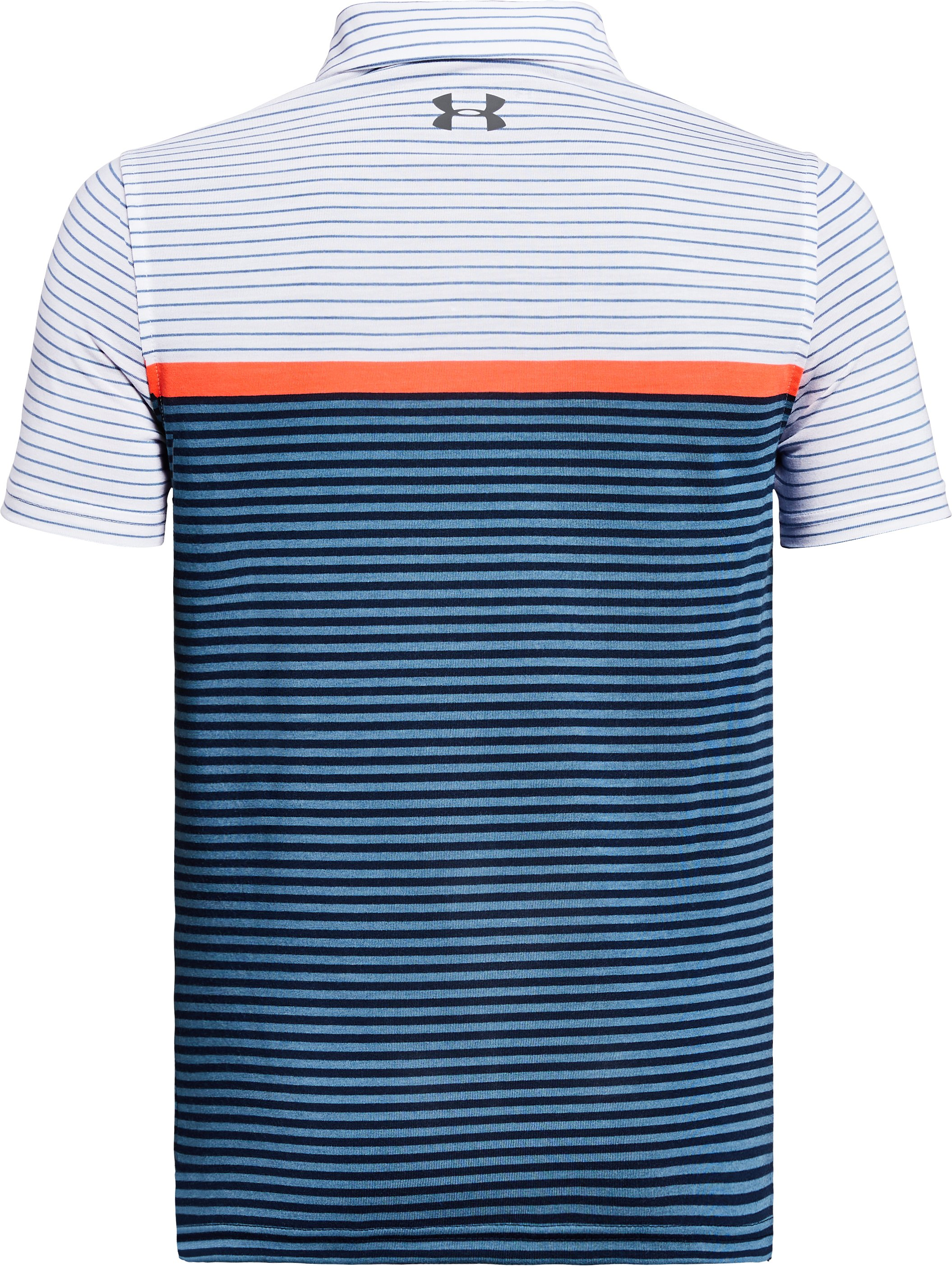 Boys' UA Threadborne JS Super Stripe Polo, White, undefined