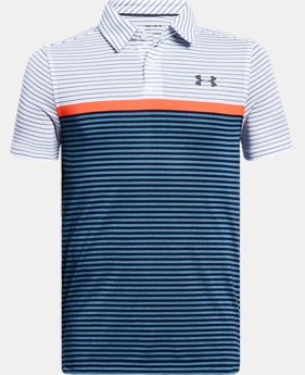Boys' UA Threadborne JS Super Stripe Polo FREE U.S. SHIPPING 1  Color Available $40