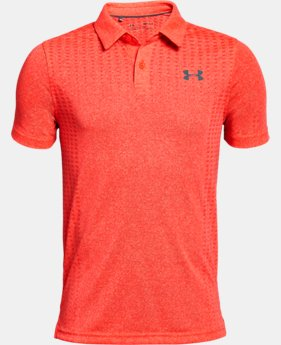 New Arrival Boys' UA Threadborne JS Outer Glow Polo  1  Color $40