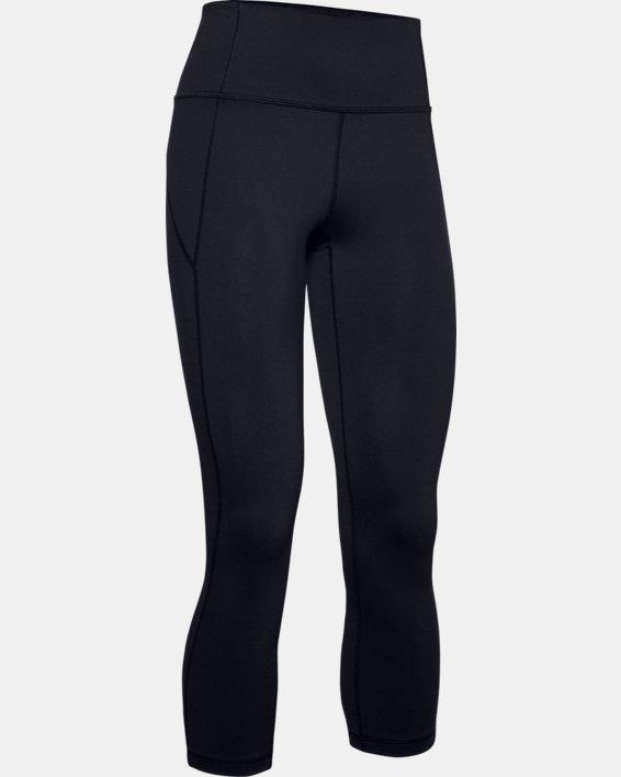 Women's UA Reflect Hi-Rise Crop, Black, pdpMainDesktop image number 3