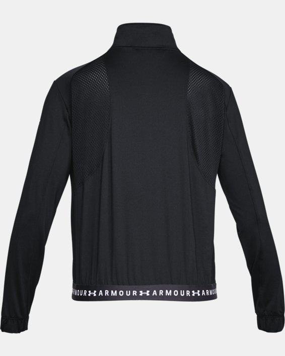 Women's HeatGear® Armour Full Zip, Black, pdpMainDesktop image number 4