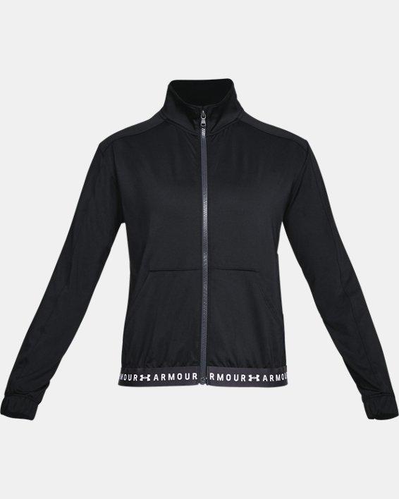 Women's HeatGear® Armour Full Zip, Black, pdpMainDesktop image number 3