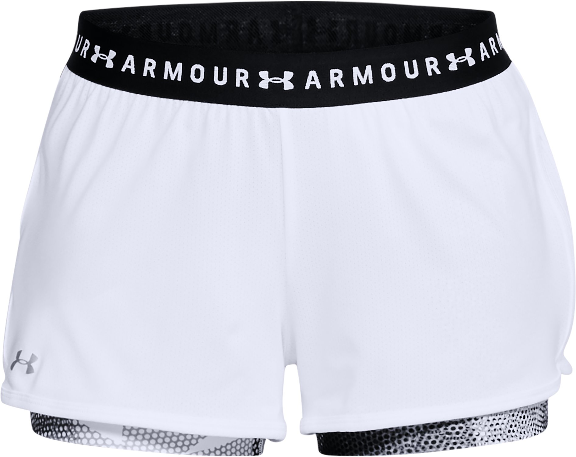 Women's HeatGear® Armour 2-in-1 Printed Shorts, White,