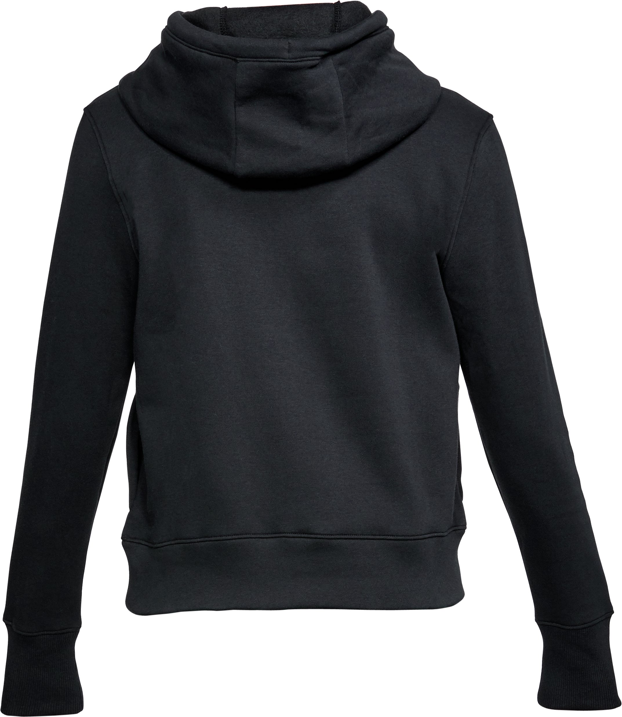 Women's UA Big Logo Cotton Hoodie, Black ,