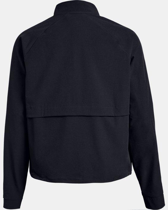 Women's UA Woven Storm Jacket, Black, pdpMainDesktop image number 4