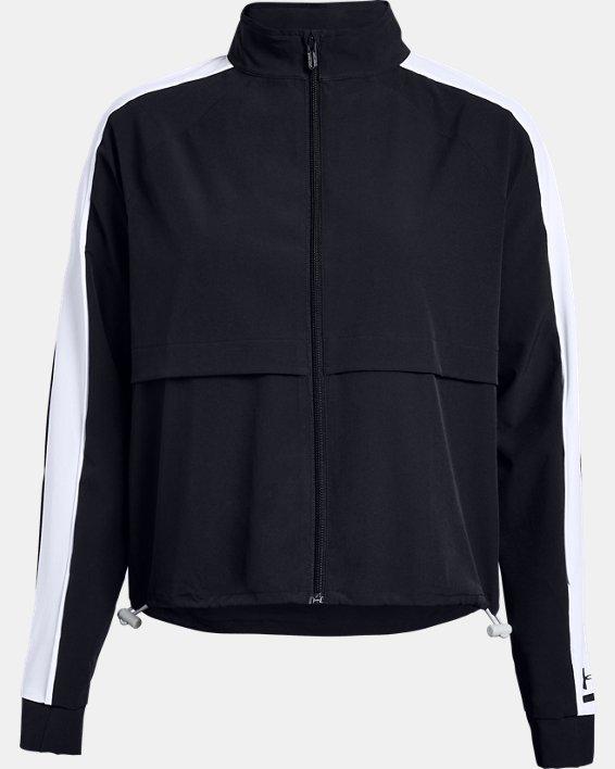 Women's UA Woven Storm Jacket, Black, pdpMainDesktop image number 3