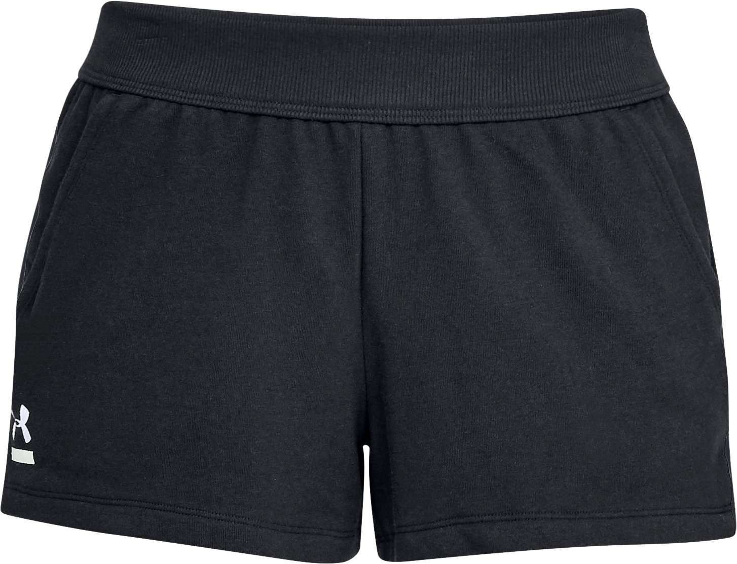 Women's UA 24/7 Microthread Terry Shorts, Black ,