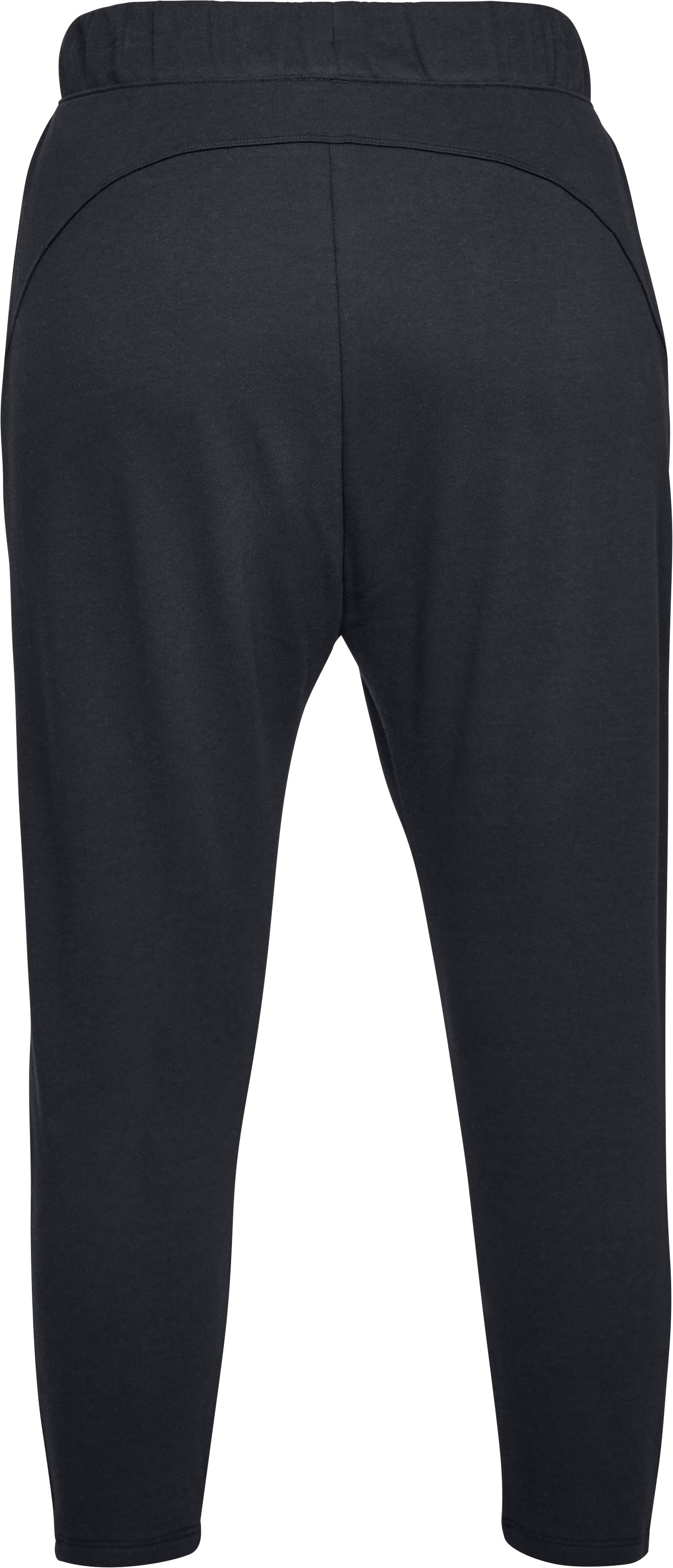 Women's UA Favorite Terry Tapered Slouch Crop, Black ,