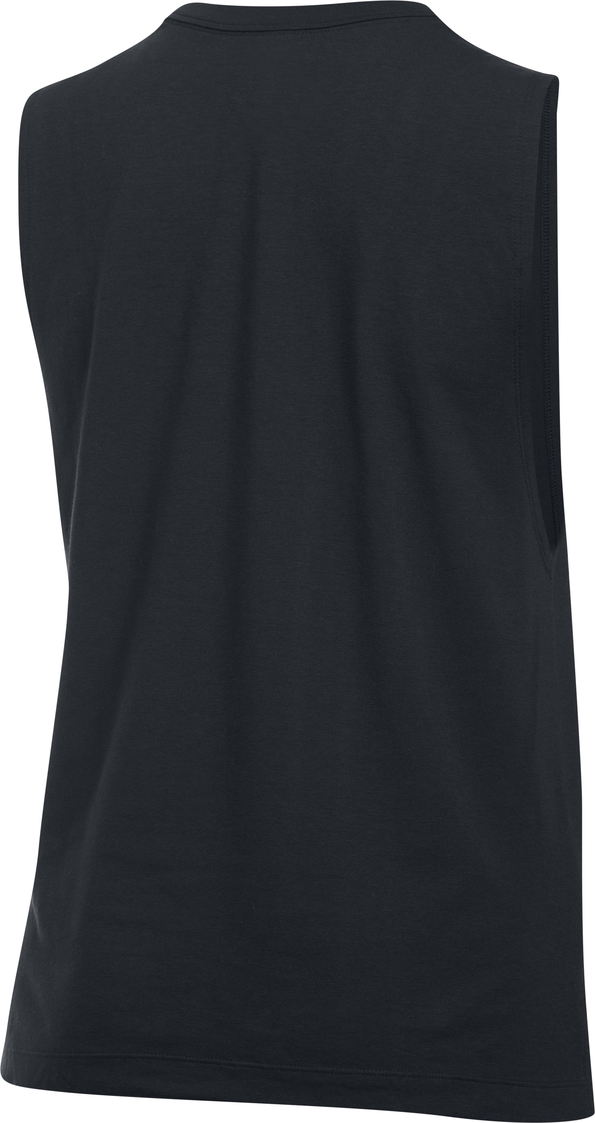 Women's UA Slash Stripe Tank, Black , undefined