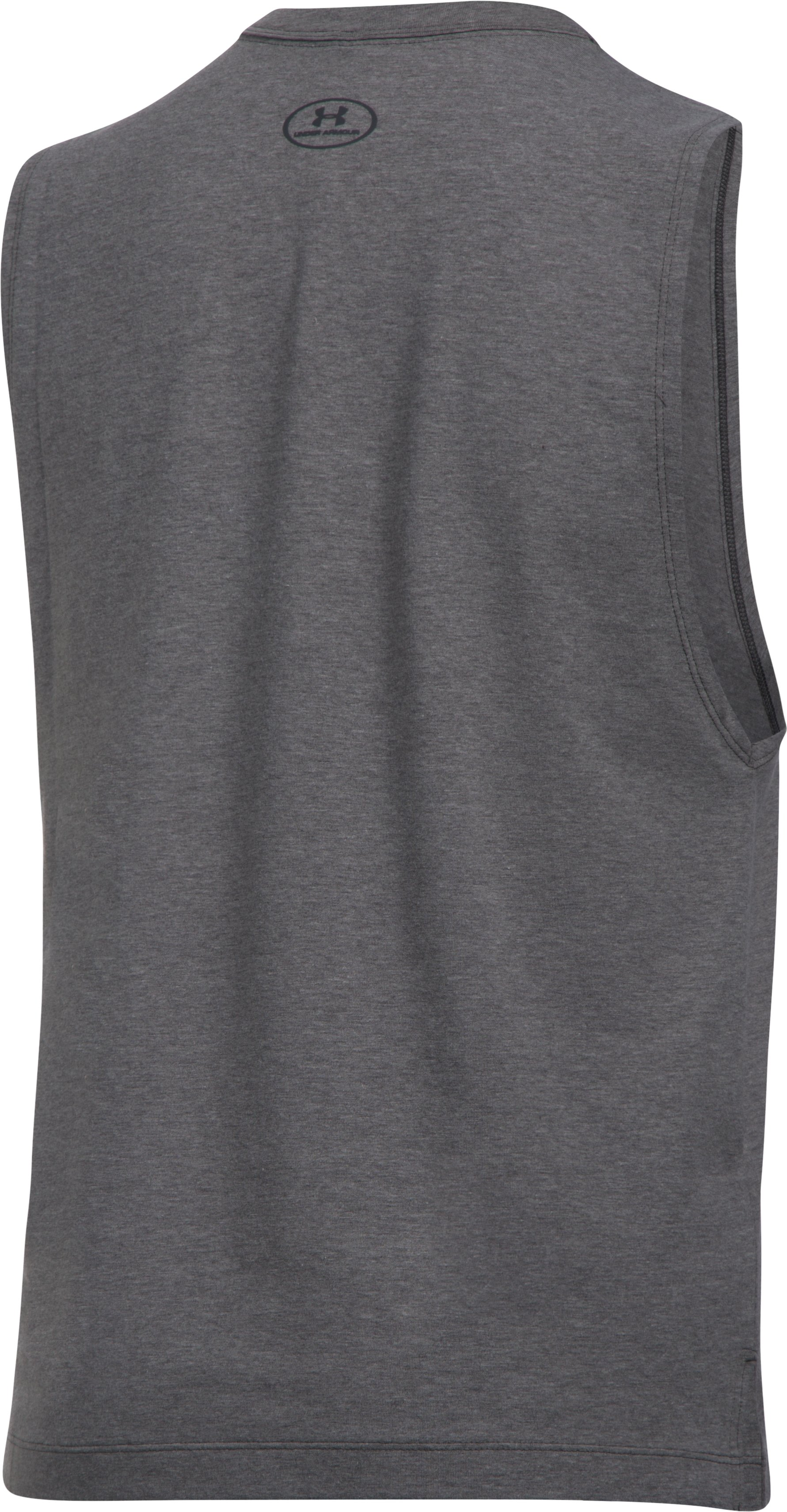 Women's UA Slash Stripe Tank, Carbon Heather