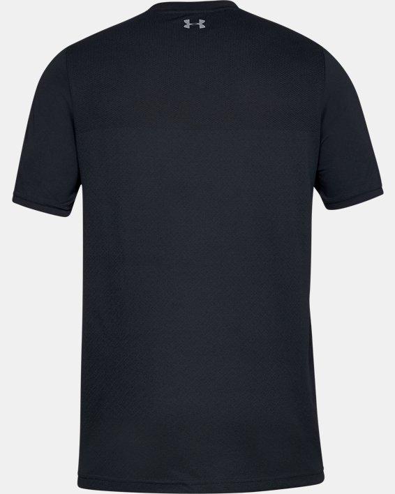 Men's UA Vanish Seamless Short Sleeve V-Neck, Black, pdpMainDesktop image number 5