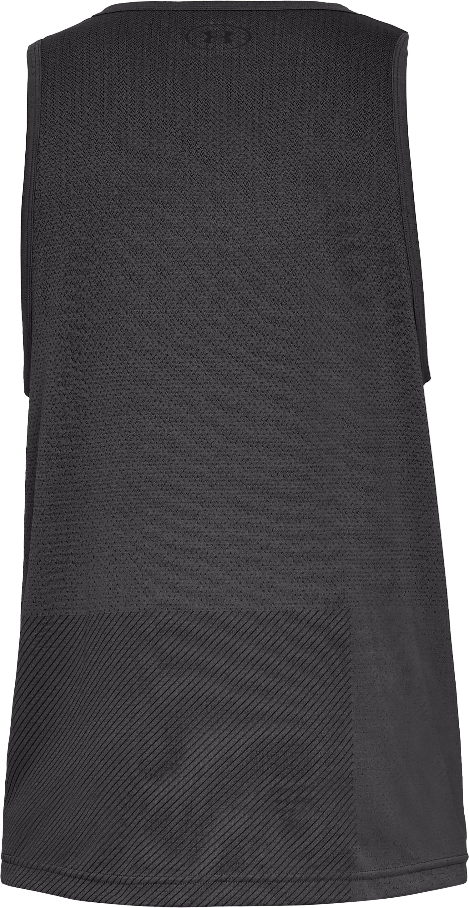 Men's UA Vanish Seamless Tank, Charcoal,