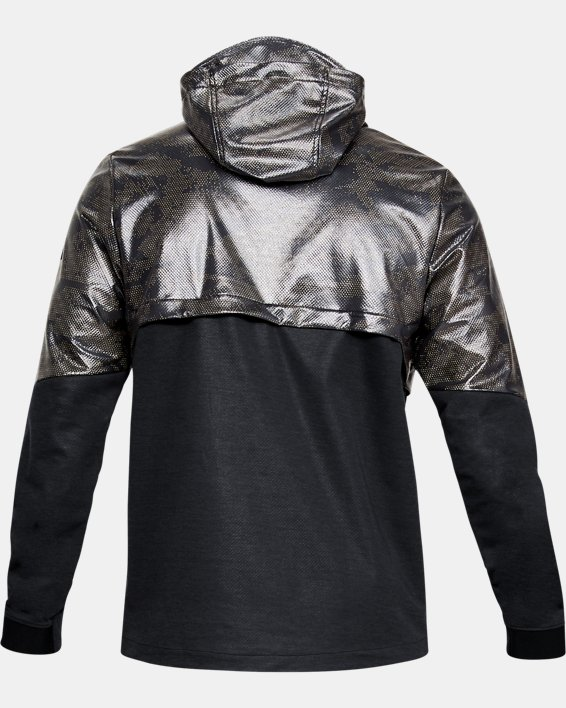 Men's UA Hybrid Anorak Windbreaker, Black, pdpMainDesktop image number 5