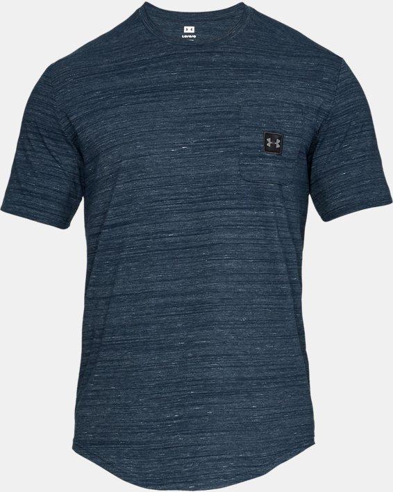 Men's UA Sportstyle Pocket T-Shirt, Navy, pdpMainDesktop image number 3