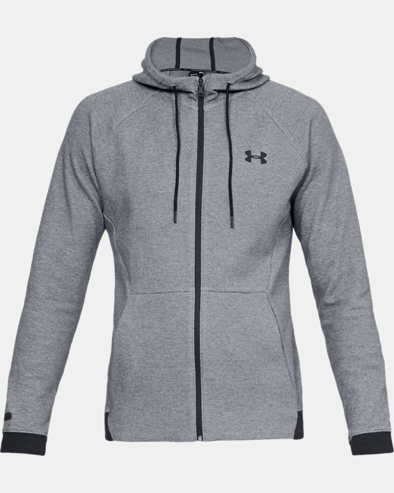 Men's UA Unstoppable Double Knit Full Zip, Gray, pdpMainDesktop image number 4