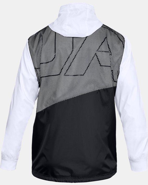 Men's UA Unstoppable Windbreaker, White, pdpMainDesktop image number 5