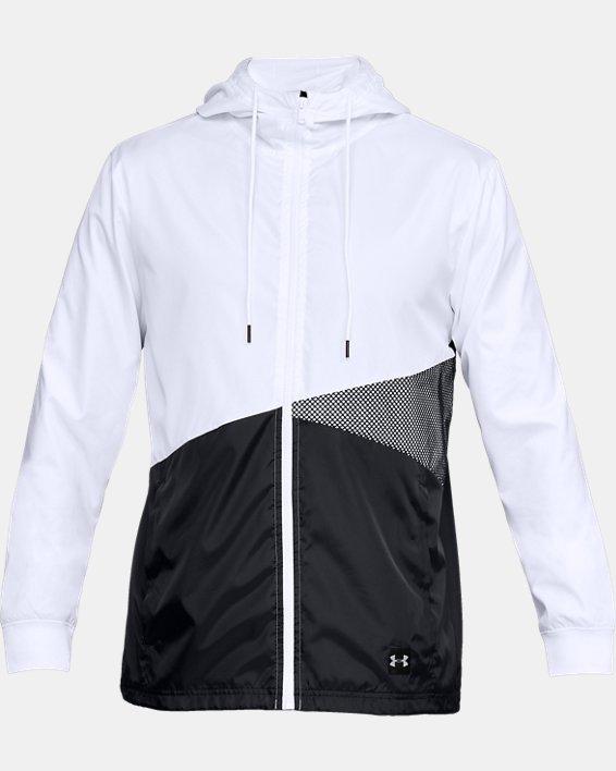 Men's UA Unstoppable Windbreaker, White, pdpMainDesktop image number 4