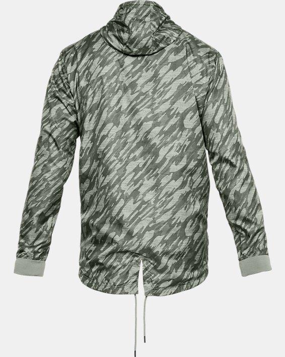 Men's UA Sportstyle Longline Anorak Jacket, Green, pdpMainDesktop image number 5