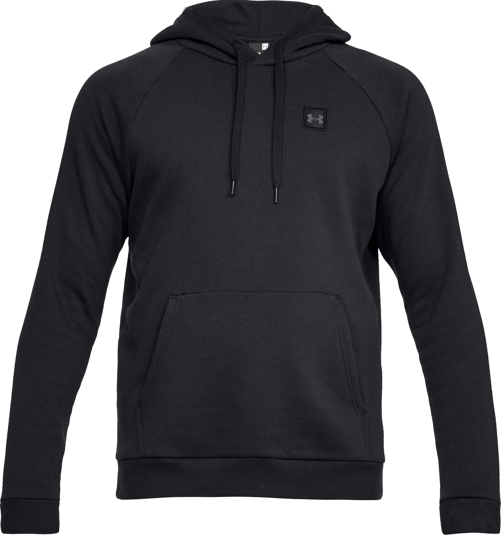 Men's UA Rival Fleece Hoodie, Black ,