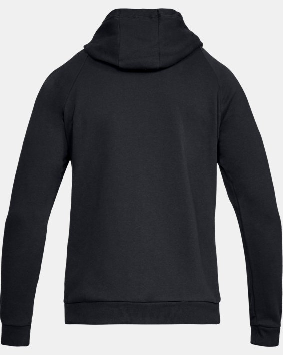 Men's UA Rival Fleece Full-Zip, Black, pdpMainDesktop image number 4