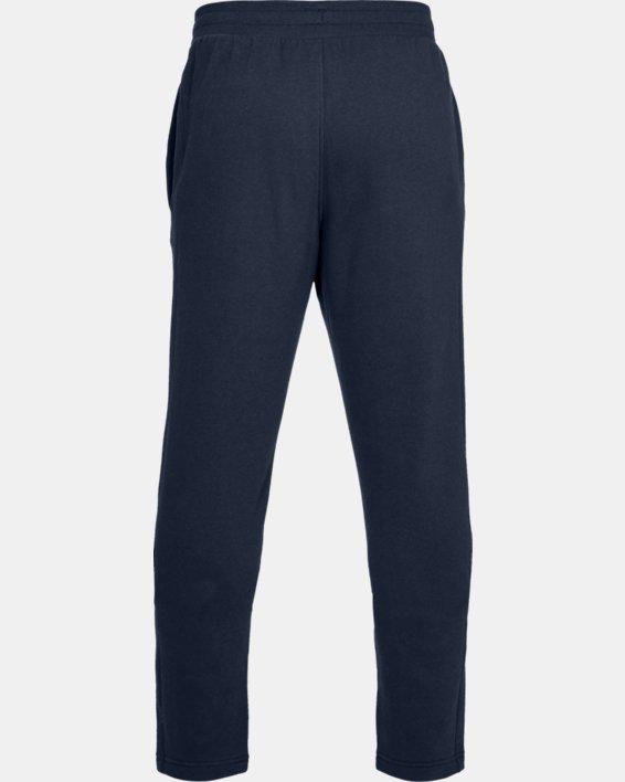 Men's UA Rival Fleece Pants, Navy, pdpMainDesktop image number 4